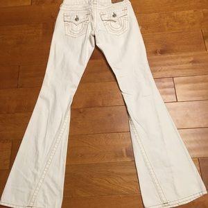 True religion brown stitches flare women jean 25